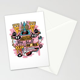 Pizza Mystery Stationery Cards