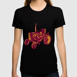 Vintage Farm Tractor Woodcut T-shirt