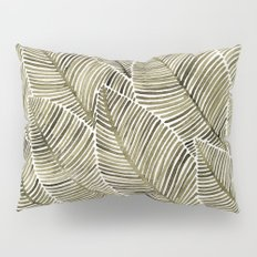Tropical Leaves – Taupe Palette Pillow Sham