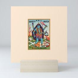 Kali Hindu Goddess Devi Shakti Matches Vintage Graphic Mini Art Print