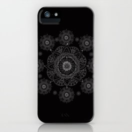 black and white mandala iPhone Case