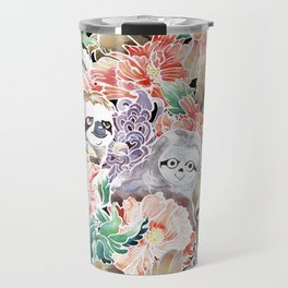 Because Sloths Watercolor Travel Mug