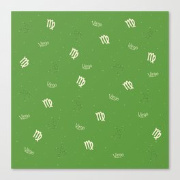 Virgo Pattern - Green Canvas Print