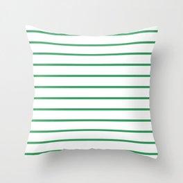Kelly Green Breton Stripes Throw Pillow