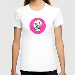 Shaw Skull in pink T-shirt