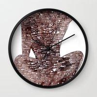 spiritual Wall Clocks featuring Spiritual Awakening by Margarita Mascaro
