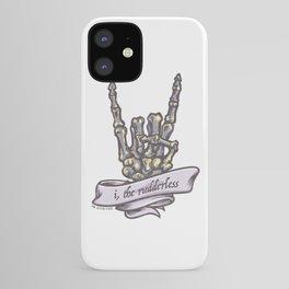 """""""I, The Rudderless"""" Skeleton Horned-Hand iPhone Case"""