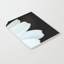 Hello Daisy - White Flower Black Background #decor #society6 #buyart Notebook
