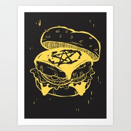 Beelzeburger in French's Art Print