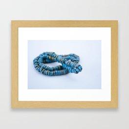 Blue art Framed Art Print
