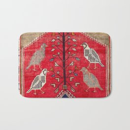 Persian Floral Rug With Several Birds Probably Quail Bath Mat