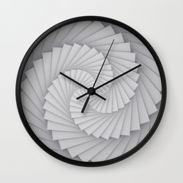 Abstract Spyral Wall Clock