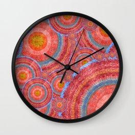 """Sci-fi rose gold abstract mandala pattern"" Wall Clock"