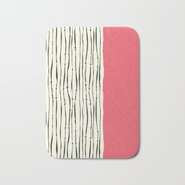 Pink Zebra Stripes Bath Mat