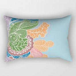 Colored Paislies Rectangular Pillow