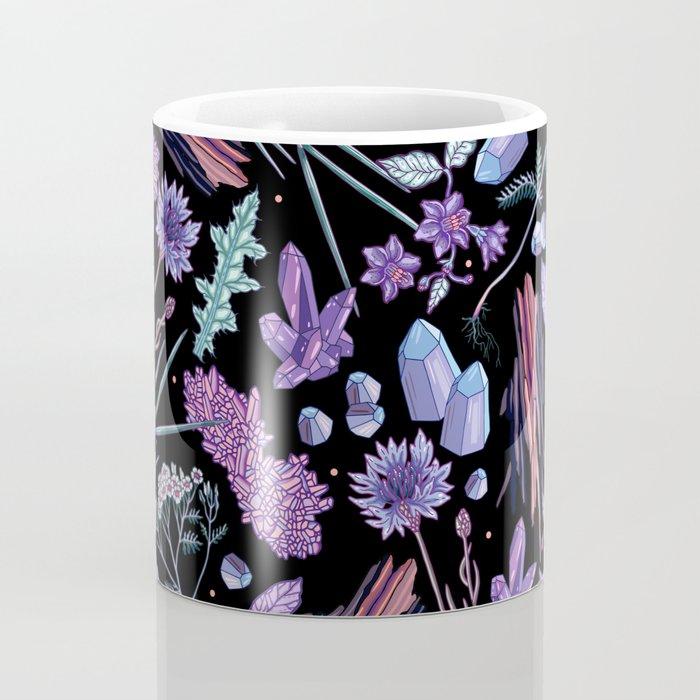 Purple flowers and jewels. Coffee Mug