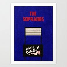 The Sopranos Bada Bing Vintage Poster Art Print