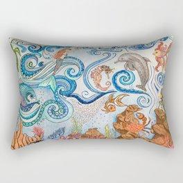 Ocean Zentangle Rectangular Pillow