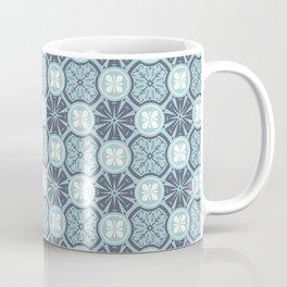 Geometrical pattern in blue Coffee Mug