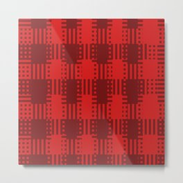 Modernised Tartan (Red) Metal Print
