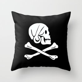 Pirate Flag Skull and Crossbones Jolly Roger Throw Pillow
