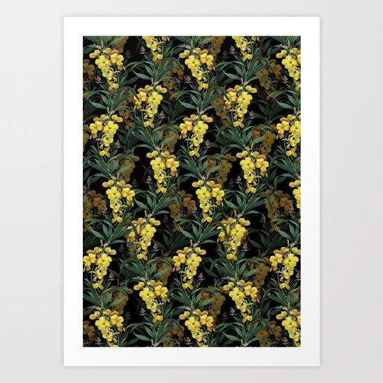 Ivy night Art Print