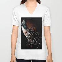 bane V-neck T-shirts featuring Bane by Rav Chaggar