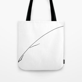 Black Writer's Quill Tote Bag