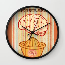 Rack your brains Wall Clock
