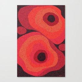 Danish Digital Flower Rug Canvas Print