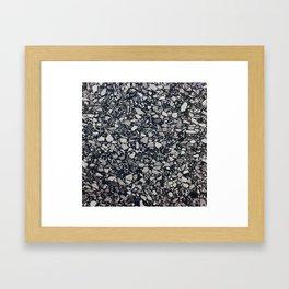 terrazzo shades of grey Framed Art Print