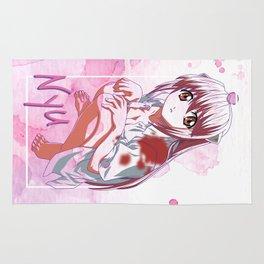 Elfen Lied Watercolor Rug