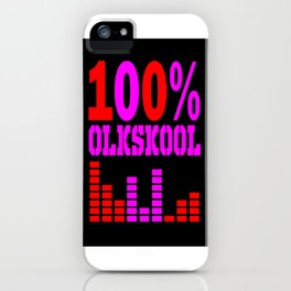oldskool raver iPhone Case
