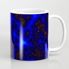 Blue Lightning Abstract Coffee Mug