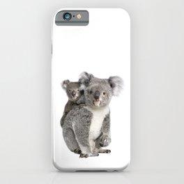 Koala bear and her baby iPhone Case