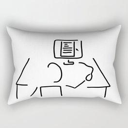 editor technical author script writer Rectangular Pillow