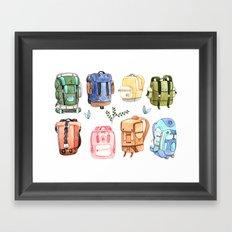 Backpacks Framed Art Print