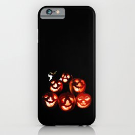 Jack-o-lantern Quintet iPhone Case