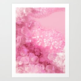 Sweet Pink Crystals Art Print