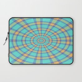 Spiralling Into Plaid Laptop Sleeve