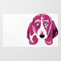 the hound Area & Throw Rugs featuring Hound Dog by andiroses