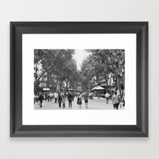 Las Ramblas Framed Art Print