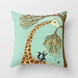 Lending A Neck Throw Pillow