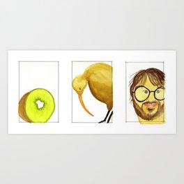 3 Kiwis Art Print