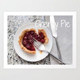 FOOD:  Cherry Pie Art Print