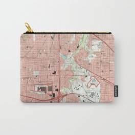 Fort Worth Texas Map (1995) Carry-All Pouch