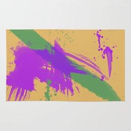 Intrepid, Abstract Brushstrokes Rug