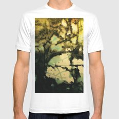 Puddle White MEDIUM Mens Fitted Tee