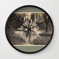 health Wall Clocks featuring Men's Health Hooping by mentalembellisher