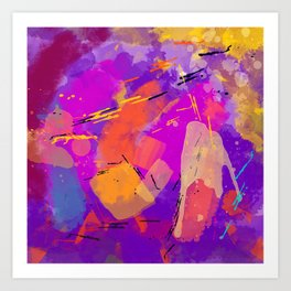Funky Party Art Print